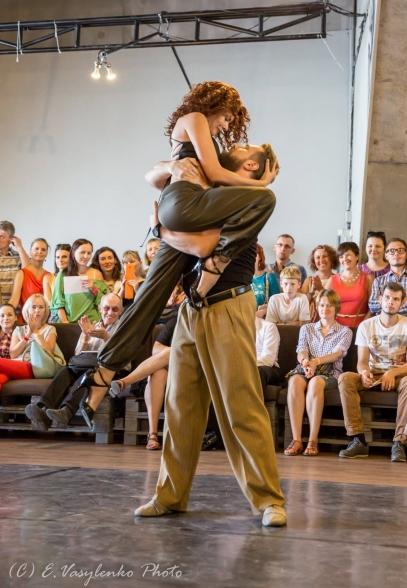 """Постановочная хореография от школы """"Aliento del Tango"""". Фото Евгении Василенко"""