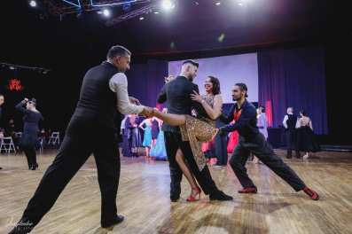"Pro-Am tango backstage в студии ""GolDance"""